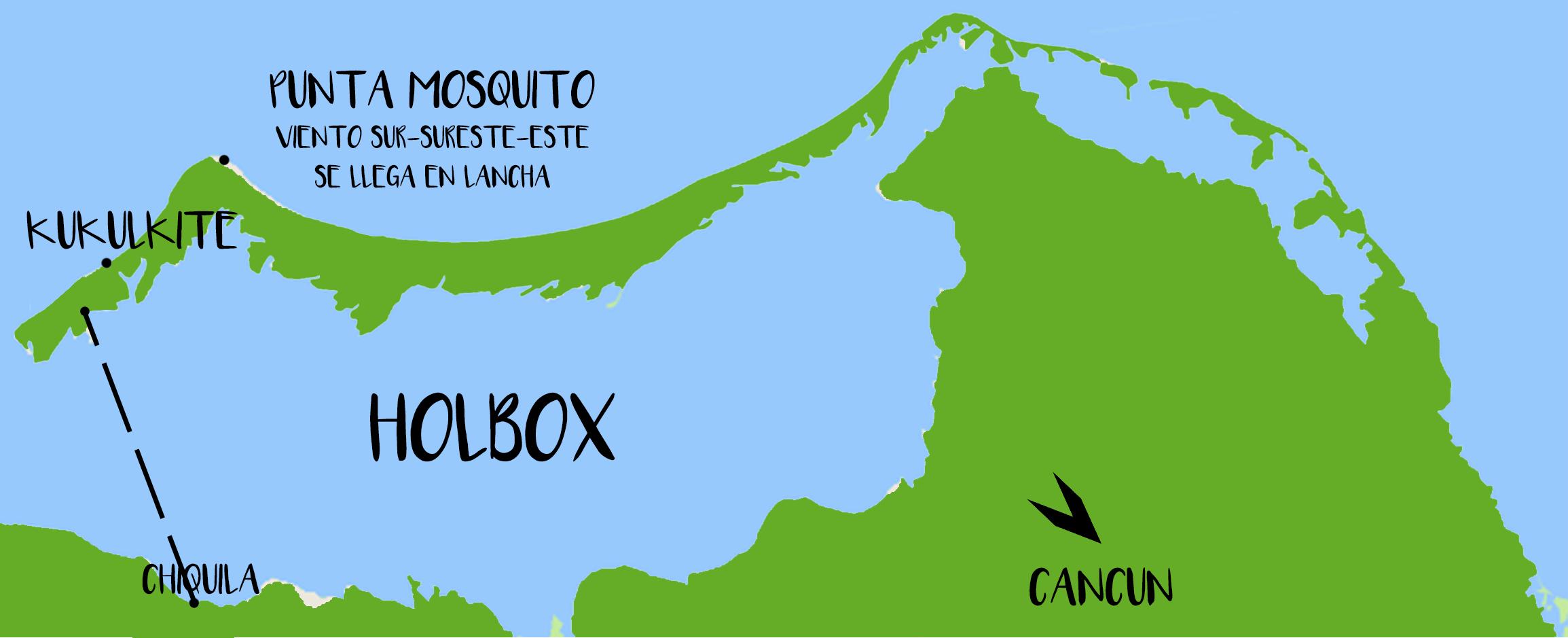Mappa Holbox Vento